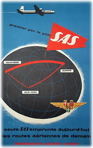 SAS - Scandinavian Airline Systems - Polar flight