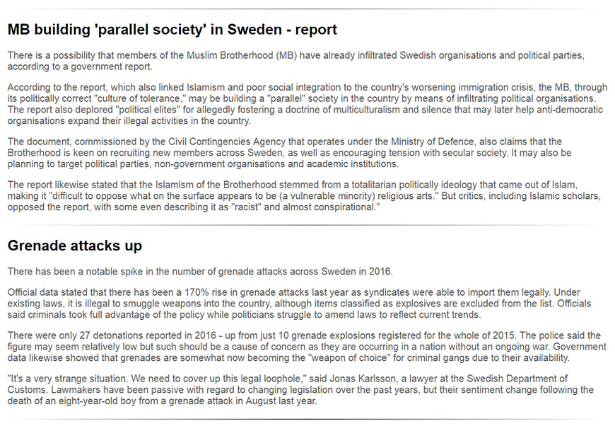 Parallel society in Sweden