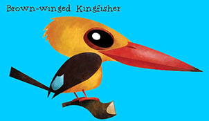 Brown-winged Kingfisher - Green humour