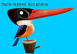 Black-capped Kingfisher - Green humour