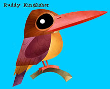 Ruddy Kingfisher - Green humour